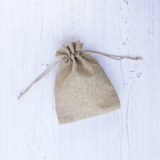 x39 Medium Drawstring Pouch Bags Burlap Jute Hessian Wedding Favor Gift Candy