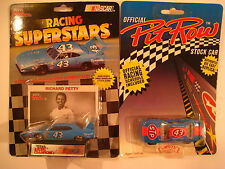 #43 RICHARD PETTY Lot of 2 DIECAST Racing Cars 1992 Mint on Card SEALED