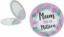 Mum In A Million Compact Mirror Make-Up Bag Pocket Mothers Day Present Gift