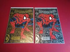 More details for spiderman #1 gold and silver vf 1990 mcfalane lot variant