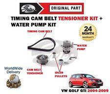 Per VOLKSWAGEN VW GOLF 2.0 GTI 16V 2004-2009 Timing Cam Belt KIT & Pompa acqua