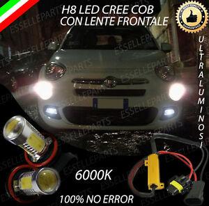 COPPIA LAMPADE FENDINEBBIA H8 LED CREE COB CANBUS FIAT 500X 6000K 100% NO ERROR
