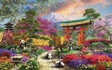 Jigsaw Puzzle Ethnic Japanese Garden Mount Fuji Flora Panda 550 pieces NEW USA