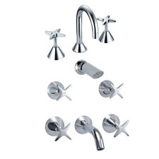 Cross Tap Set Mixer Spout Package Chrome for Bathroom WELS Approved