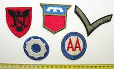 lot de 5 Patchs Originaux US Army WWII ( 133 )