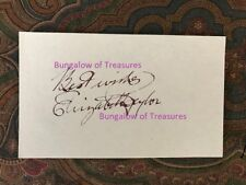 ELIZABETH TAYLOR signed 3x5 cut signature & photo
