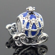 New European Silver Charm Bead Fit sterling 925 Necklace Bracelet Chain US v4as