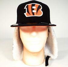 New Era NFL Cincinnati Bengals 59Fifty Black Dog Eared Fitted Cap Mens 7 NWT