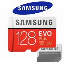 Samsung Micro SD Card 128GB Evo Plus microSDHC Class10 Camera Memory 100MBs 2017