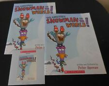 The Greatest Snowman In The World! Scholastic Listening Center 2 Books with CD