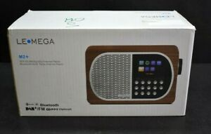 LeMega M2+ Smart Internet Radio Wood Brown Bluetooth Tabletop Stereo Wifi New
