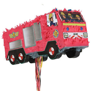 Fireman Sam Amscan Red Fire Truck Fire Engine 3D Pinata Birthday Party Toy