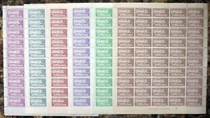MALDIVE ISLANDS 1956 - 6 Values SG32-7 in Complete Sheets of 50 DH35