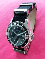 HÄUSSER SPORT NIGHT LIGHT - Herren  Armbanduhr / Uhr mit Quarzwerk Textilarmband