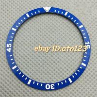 41mm Luminous Blue Ceramic Watch Bezel Insert Accessories Fit Men's Wristwatch