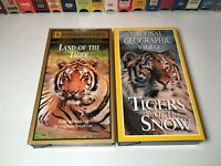 National Geographic Tiger Documentary VHS Lot Land Of The Tiger & Tigers Of Snow