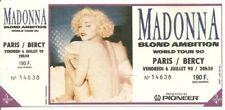 RARE / TICKET BILLET DE CONCERT - MADONNA : LIVE A PARIS ( FRANCE ) 1990 UNUSED
