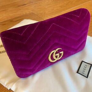Gucci Mini Velvet Marmont Matelassé Cross Body Bag