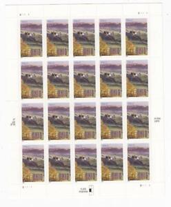U.S.A. # OHIO 1803 37ct FARM FIELD-SELF ADH. SOUVENIR SHEET/FACE VALUE /PO FRESH