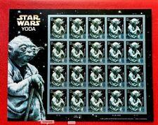 2007 US Stamps SC#4205 41c Star War YODA Pane of 20
