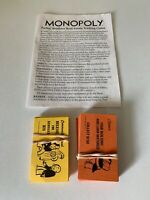 Monopoly board game 1996 replacement pieces Cards And Instructions