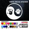 Dog Paw Yin Yang (Ying) Hand Print Sign Car/Van Or Laptop Decal Vinyl Sticker