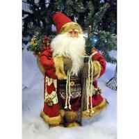 70cm Traditional Standing Father Christmas Santa Decoration Soft Plush