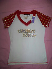 Touch By Alyssa Milano Womens Cincinnati Red Shirt NWT Large BLING