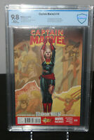 Captain Marvel #14 CBCS 9.8 (NOT CGC) First Appearance (cameo) of Kamala Khan
