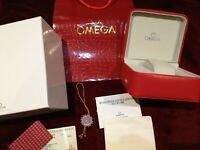 OMEGA WATCH REPLACEMENT BOX RED & SILVER Seamaster Speedmaster