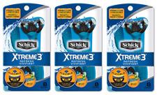 Schick Xtreme3 Refresh Scented Handle Disposable Razors, 24 Count BULK