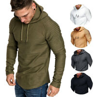 Men Winter Slim Fit Hoodie Warm Hooded Sweatshirt Loose Coat Jacket Gym Outwear