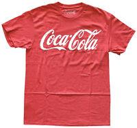 Coca Cola Logo Red Heather Men's Graphic T-Shirt New