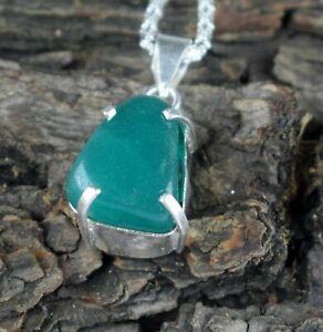 Natural Green Emerald 38.95 Ct Fancy Cabochon Gemstone Men's 925 Silver Pendant