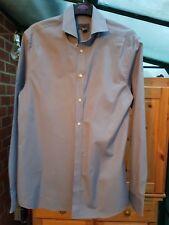 Men's Khaki Green H&M Smart Shirt, Premium Cotton, EUR Size M (Chest 44'') VGC