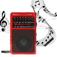 Portable Digital Radio Receiver MP3 Music Player Speaker 4 Band AM/FM/SW1/SW2