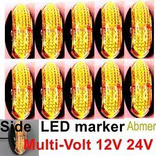 10X 12V 24V Amber CLEARANCE LIGHTS SIDE MARKER LED FOR TRAILER TRUCK BUS BOAT