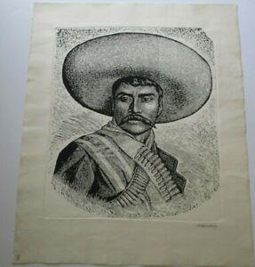 LEOPOLDO MENDEZ LINOCUT WOODCUT MEXICAN MODERNIST TGP VINTAGE HAND SIGNED RARE