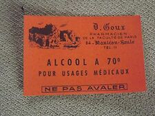 Scrabooking -( ALCOOL 70° )  20 d'anciennes Etiquettes Pharmacie  N°8