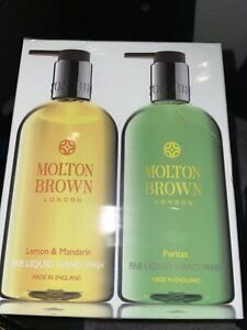 MOLTON BROWN Lemon & Mandarin And Puritas Hand Wash Gift Set 2x300ml