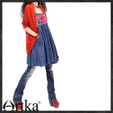105 Korean Women's Fashion Wool Blend Shrug Cardigan Knit Blouse Top Orange