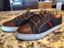 Gucci Women's Wool & Leather Sneakers Athletic Shoes Flats Size 39 EUC