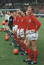 BOBBY & JACK CHARLTON Signed 12X8 Photo 1966 WORLD CUP Legends COA