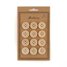 12 Natural Wood Buttons Rustic Wedding - Invitations Favors Decorations Q18023