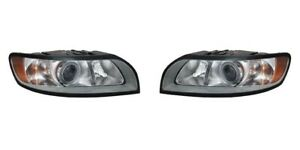 Right and Left Side Replacement Headlight PAIR For 2008-2011 Volvo S40/V50