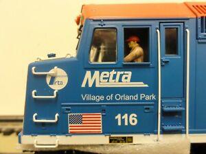 MTH O Ga. METRA F40PH Locomotive w/proto sound 2.0, #20-2716-1