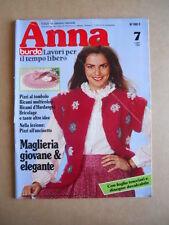 ANNA Burda n°7 1982 con cartamodelli  [C60]