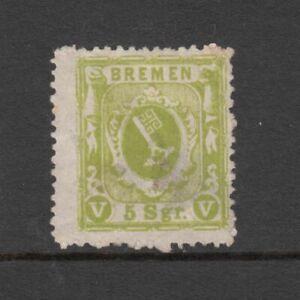 Bremen - 5sgr Key Arms Issue 1861 (MNG) (CV $417)