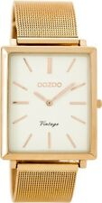 Genuine OOZOO 37x31mm Rectangle Rose Gold Mesh With White Dial Watch C8183