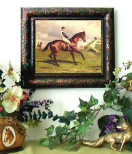 Hopkins RACE HORSE Thoroughbred Print Antique Style Framed 11X13 Pony picture